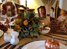 Thanksgiving table ...love it