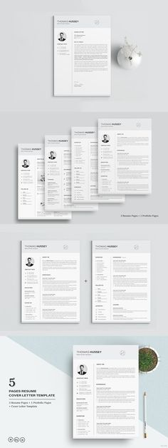Free Turquoise Resume Template with Elegant Design Free Resume - resume 5 pages