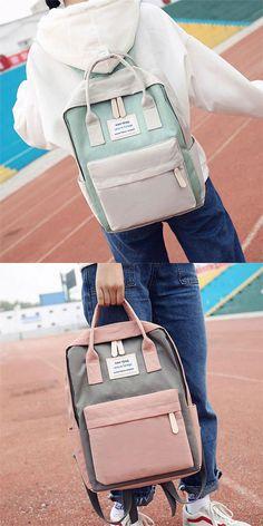 Fresh High School Students Multi-function Campus Shoulder Bag College Canvas  Backpack for big sale fb4b957b37