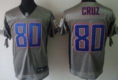 Nike New York Giants #80 Victor Cruz Gray Shadow Elite Jersey