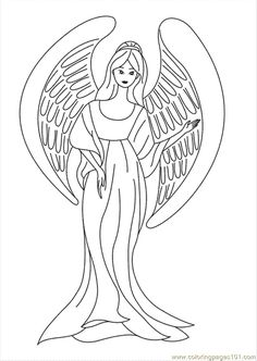 Coloring Pages Angel Coloring Sheets (Peoples > Angel) - free