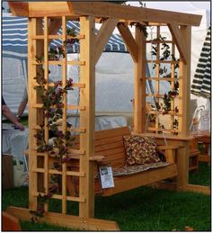 Arbor & Swing - on display at the arts and crafts festival in Dillard, GA.