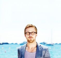 the fact that Ryan Gosling has awesome glasses makes him even more attractive.