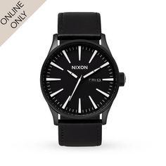 Mens Nixon The Sentry Leather Watch - Nixon Watches at Goldsmiths