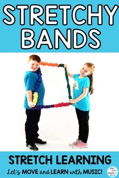 Stretchy band activities are perfect for the music, PE, preschool and special needs classroom. Focus energy, develop gross motor skills, learn music concepts, are just a few of the ways you can use stretchy bands. Read how and get the free resource. www.singplaycreate.com #musicandmovement, #singplaycreate, #creativemovement, #stretchybands, #stretchybandactivities