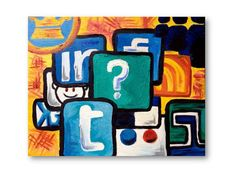 X Social Media Overload, oil painting on canvas panel Social Networks, Social Media Marketing, Social Media Art, Marketing Techniques, Color Of Life, Inbound Marketing, Oil Painting On Canvas, Color Inspiration, Cartoon