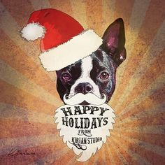 Happy Holidays from Kirian Studio! Custom dog POP art for the dog lover. We have connections with Santa so you can still order and we include expedited shipping on all orders.