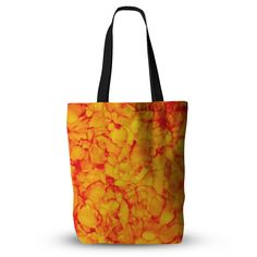 """Claire Day """"Yellow"""" Orange Everything Tote Bag"""