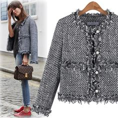 What Would Holley Wear: Classy Girls Wear Pearls Chanel Tweed Jacket, Chanel Style Jacket, Boucle Jacket, Mode Outfits, Stylish Outfits, Fashion Outfits, Womens Fashion, Fashion Tips, Fashion Quiz