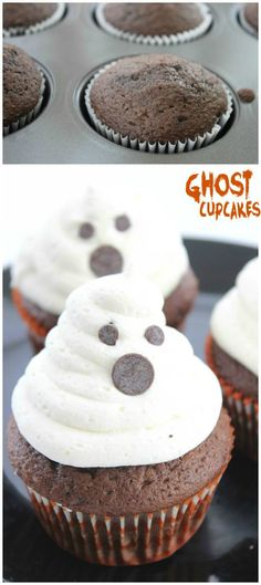 Ghost Cupcakes Recipe! Easy halloween dessert treat recipe for parties and kid-friendly snack ideas!