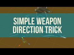 Easy way to control your weapon firing direction I Am Game, Simple Way, Unity, Weapons, Easy, Youtube, Weapons Guns, Guns, Weapon