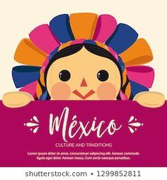 Cartera de fotos e imágenes de stock de Akbaly | Shutterstock Frida Kahlo T Shirt, Mexico Culture, Mexican Art, Art For Kids, Stencils, Clip Art, Baby Shower, Traditional, Drawings