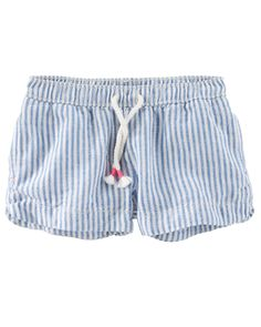 Kid Girl Hickory Stripe Sun Shorts from OshKosh B gosh. Shop clothing    accessories from a trusted name in kids 194c3e715d226