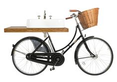 Arcade Oak Shelf For Pashley Bicycle Basin. Perfect to Pair with The Arcade Bicycle Basin Kit. Unique Bathroom Sinks, Bathroom Staging, Unusual Bathrooms, Basin Unit, Basin Mixer Taps, Burlington Bathroom, Cycle Shop, Oak Shelves, Wood Vanity