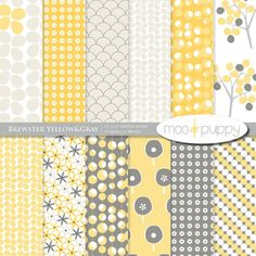 digital paper - love the polka dot tree pattern