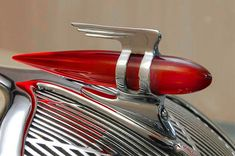 rocket hood ornament from a 1936 Terraplane: