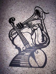 Musical Insturments Sax Violin Keyboard and Trumpet Metal Wall Art Decor * You can get more details by clicking on the image.