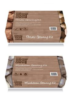 Rustic #packaging - grow your own mushrooms