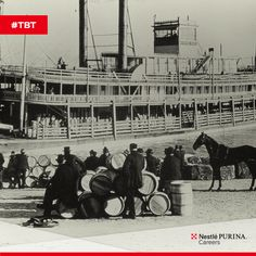 ‪#‎TBT‬ This steamboat docked on the Mississippi River was used for transporting feed to and from farms, as well as industrial and commercial markets. Circa 1890.