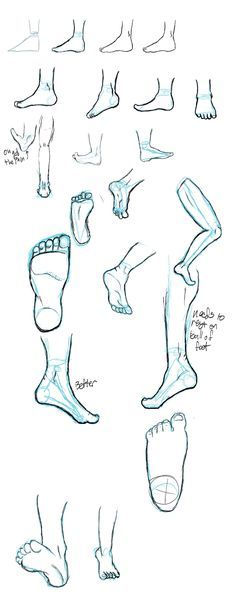 Today's Drawing Class 101: Drawing feet ||