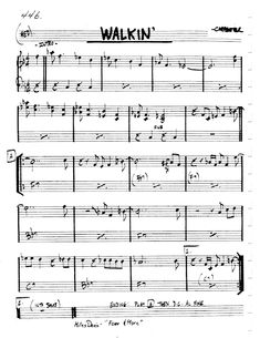 Practice Jazz: [Jazz Real Book I : Page Walkin' (Miles Davis) - Jazz Standard Sheet Music Jazz Sheet Music, Jazz Songs, Dave Brubeck, Jazz Standard, Backing Tracks, Jazz Guitar, Miles Davis, Books, Musica