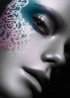 Stencil- Airbrush makeup at its finest. Interested in learning all about airbrush makeup?  Then you gotta check out this great site with amazing info on airbrush makeup.  http://thebestairbrushmakeup.com/  #makeupaddict #airbrushmakeup