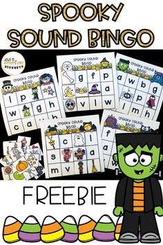 Kindergarten This is one of my favorite games to play as part of a small group or guided reading group! This game is a little bit different than the t. Halloween Letters, Theme Halloween, Halloween Activities, Halloween Bingo, Letter Activities, Preschool Activities, Teaching Reading, Guided Reading, Close Reading