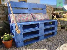 With pallets you can make stuff for placing outdoor as well, make a chair with the wooden pallets and place it inside the lawn. Paint it in any bright color so that the rays of the sun would make it lovelier when they would fall on it, check out the picture below so that you can get lovely ideas. Enjoy making objects and stuffs because it's fun.