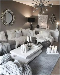 Here are 28 cozy living room decor ideas and everything you need to recreate these cozy living room vibes in your apartment. Here are 28 cozy living room decor ideas and everything you need to recreate these cozy living room vibes in your apartment. Design Living Room, Living Room Decor Cozy, Chic Living Room, Living Room Grey, Living Room Furniture, Barn Living, Grey Room, Living Spaces, Bedroom Decor