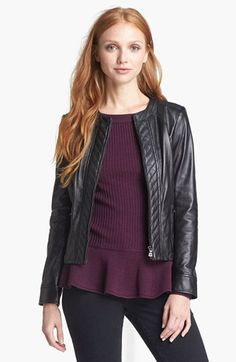 Tory Burch 'Daphne' Leather Jacket | Nordstrom $895.00