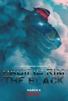 Pacific Rim Kaiju, Pacific Rim Jaeger, Netflix Original Anime, Netflix Anime, Black Poster, Gipsy Danger, Anime Release, Armor Concept, Netflix Originals