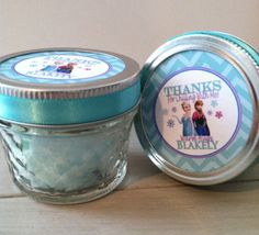 Frozen Birthday Party Favors Cotton Candy Mason by EllaJaneCrafts, $40.00