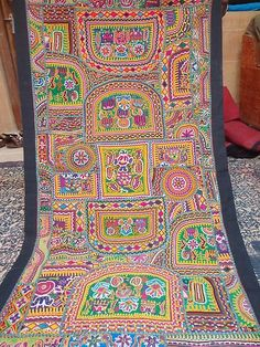 INDIAN ANTIC PATCHWORK ETHNIC VINTAGE DECORATION ART DECOR WALL HANGING TAPASTRY