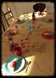 Piraten-Party Schatzkarten-Tischdecke aus Packpapier Schöne umweltfreundliche A... - #aus #Packpapier #Piratenparty #SchatzkartenTischdecke #Schöne #Umweltfreundliche