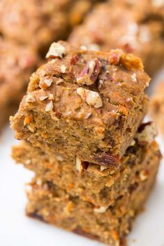 These HEALTHY Morning Glory Breakfast Bars are made with quinoa flour, sweetened naturally AND are packed with protein!