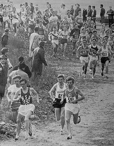 (L to R) Steve Prefontaine, Gerry Lindgren, Donal Walsh, and Ron Bednarski set a fast pace for the Nov 24, 1969 NCAA Cross Country Championship, Van Cortlandt Park, Bronx, NYC | Flickr - Photo Sharing!