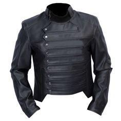 Captain America Winter Soldier Bucky Barnes Faux Leather Jacket Black