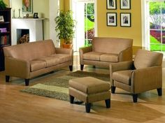 Contemporary Style Peat Microfiber Sofa Couch: Amazon.com: Home & Kitchen