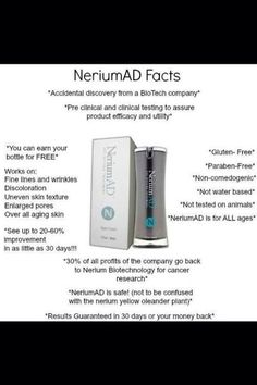 Give NeriumAD 30 days and see the difference in your skin!  emilywintle.nerium.com