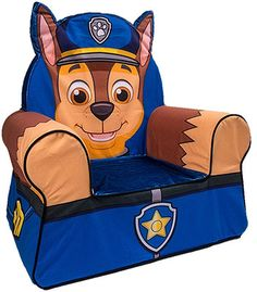 Nick Jr. Paw Patrol Comfy Character Chair - Chase