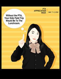 Funny PTA Appreciation Week Posters...