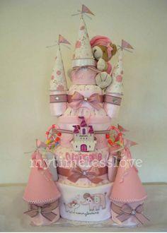 My Timeless Love Diaper Cake: CastleCake