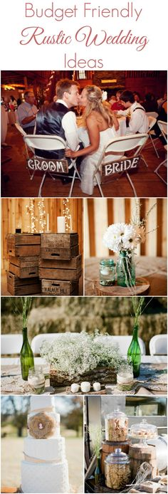 All the best budget friendly ideas for a rustic or country style wedding.