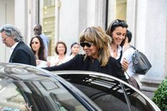 Tina Turner and her husband Erwin Bach were spotted yesterday, 6 June 2016 leaving the Armani store in Milan Italy! Looking just fab with sunglasses!