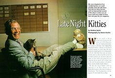 Men with cats. David Letterman and a cat.