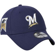 Milwaukee Brewers New Era Game of Thrones 9FORTY Adjustable Hat - Navy