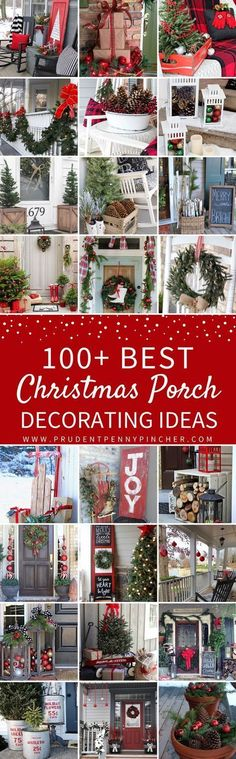 100 Best Porch Christmas Decorations #christmaslightdecorations #christmasdecorationsoutdoor