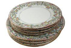 Limoges Plates, S/8 on OneKingsLane.com
