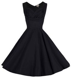 Lindy Bop Ophelia Black Vintage Dress f481609073