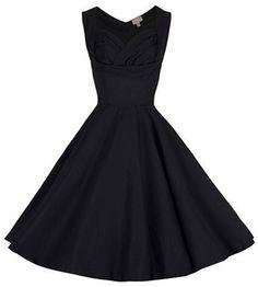 Lindy Bop Ophelia Black Vintage Dress 517dd3dc3fa